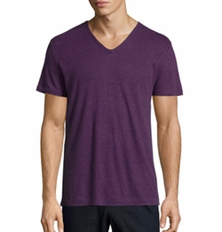 Short-Sleeve V-Neck T-Shirt by Vince in Rosewood