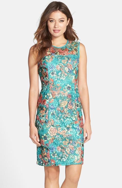 Floral Lace Sheath Dress by Alex Evenings in Bridge of Spies