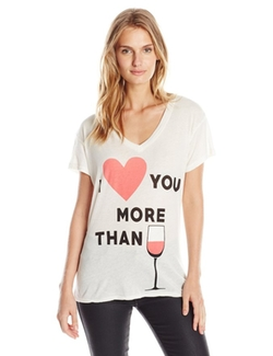 Women's V-Neck Short-Sleeve Shirt by Wildfox in The Choice