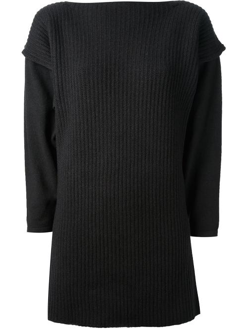 ribbed boat neck sweater by DUSAN in This Is Where I Leave You