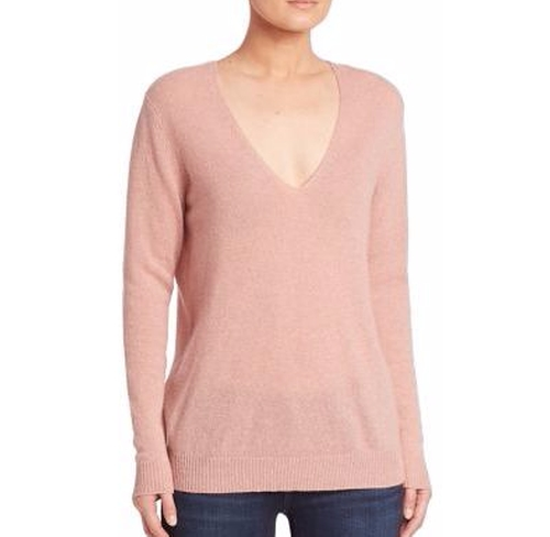 Adrianna Cashmere V-Neck Sweater by Theory in The Boss