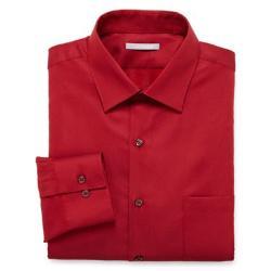 Fitted Piqué Dress Shirt by Van Heusen in Pain & Gain