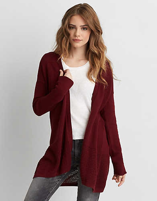 Open Stitch Cardigan by American Eagle Outfitters in Mistresses - Season 4 Episode 2