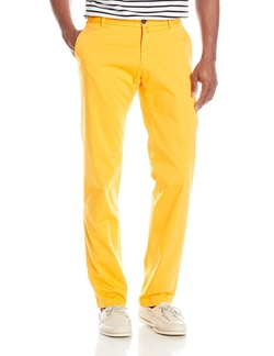 Cotton Stretch Straight-Fit Pants by Façonnable in Scream Queens