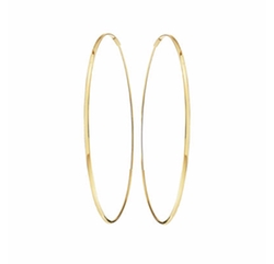 Large Oval Magic Hoop Earrings by Lana in Quantico