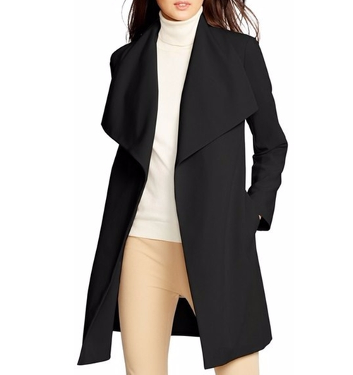 Belted Drape Front Coat by Lauren Ralph Lauren in The Boss