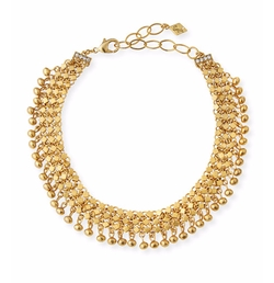 Golden Mesh Statement Necklace by Sequin in Power