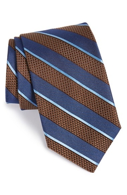 'Montu' Stripe Silk Tie by John W. Nordstrom in Black Mass