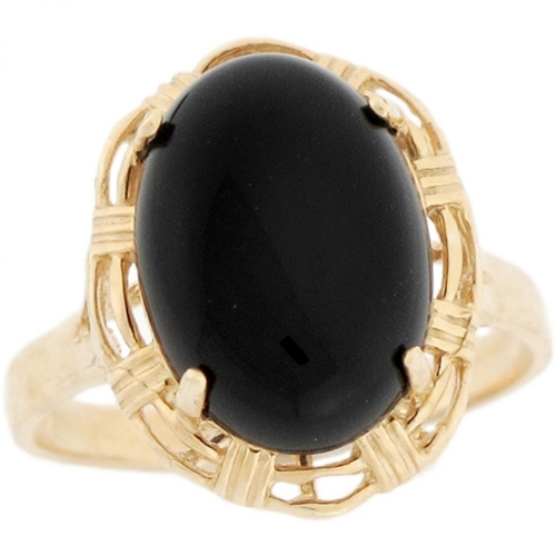 Oval Onyx Unique Ring by Jewelry Liquidation in Knock Knock