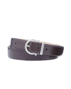 Pierre Pebbled Gancio Belt by Salvatore Ferragamo in Entourage