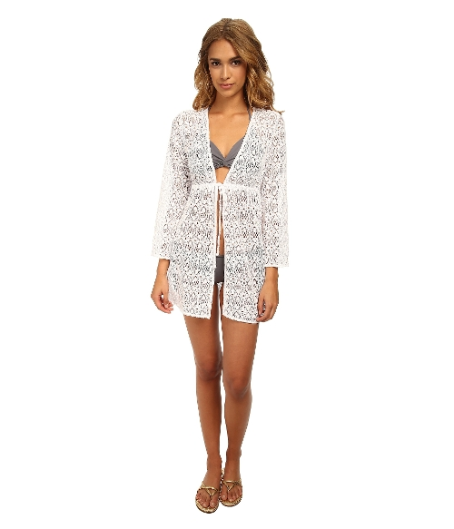 Crochet Open Front Tunic Cover Up by Jantzen in Love & Mercy