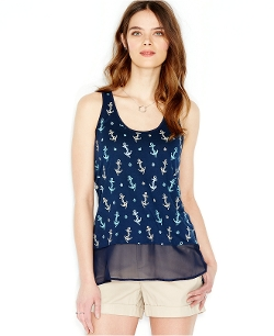 Sleeveless Anchor-Print Tank Top by Maison Jules in Cut Bank