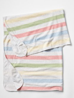 Organic Rainbow Stripe Blanket by Gap in While We're Young
