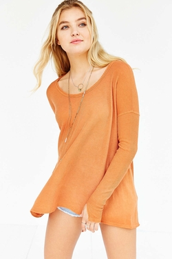 Ecote Riley Thermal Top by Urban Outfitters in Ballers