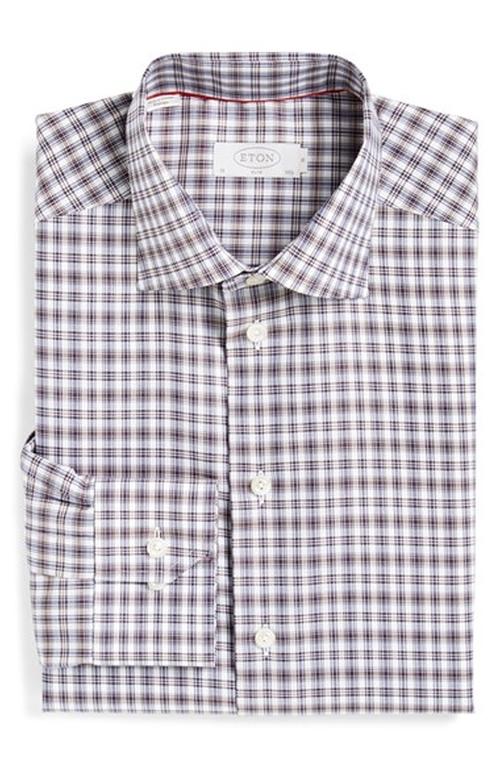 Slim Fit PlaidDress Shirt by Eton in Wedding Crashers
