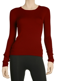 Ribbed Crew Neck Sweater by Leon Max in The Second Best Exotic Marigold Hotel