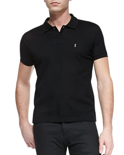 Short-Sleeve Pique Polo Shirt by Saint Laurent in Focus