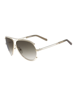 Isidora Metal Aviator Sunglasses by Chloe in Animal Kingdom