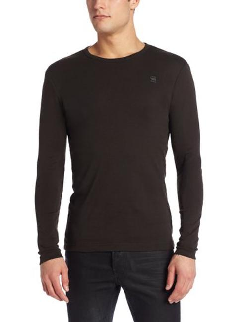 Men's Base Round Neck Long Sleeve Tee by G-Star in Sabotage