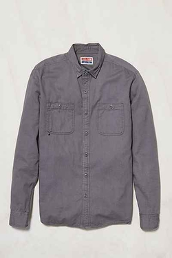 All-Son Button-Down Utility Shirt by Urban Outfitter in Black-ish