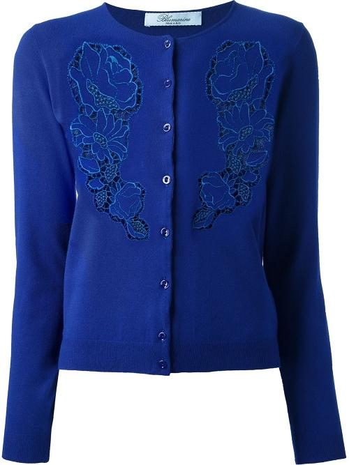 Sequin Floral Print Cardigan by Blumarine in The Other Woman