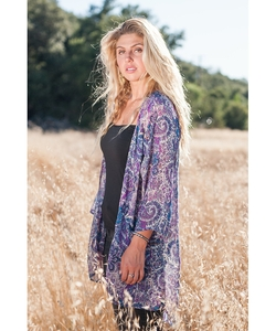 Paisley Kimono Cardigan by Koh in Fuller House