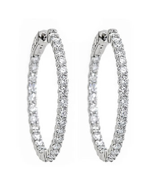 Diamond Hoop Earrings by Neiman Marcus in Sex and the City