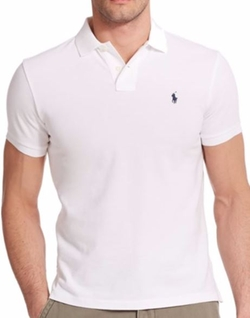Custom-Fit Mesh Polo Shirt by Polo Ralph Lauren in The Wolf of Wall Street