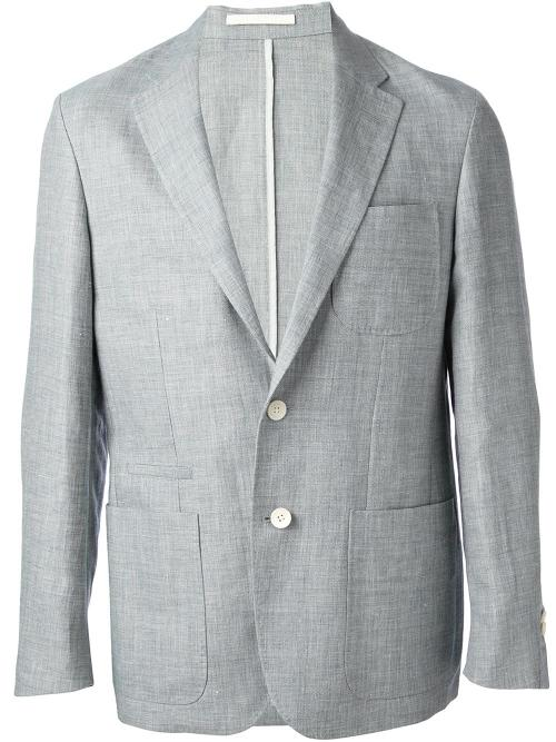 Chambray Blazer by Corneliani in Anchorman 2: The Legend Continues