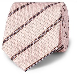 Striped Woven-Silk Tie by Drake's in Kingsman: The Secret Service
