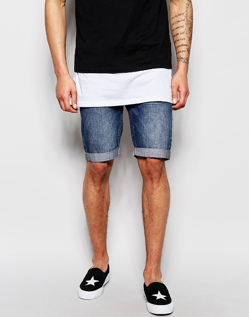 Riot Slim Fit Denim Shorts by Religion in Magic Mike XXL