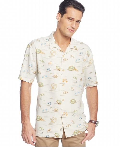 Beach-Print Short-Sleeve Shirt by Tommy Bahama in The Walk