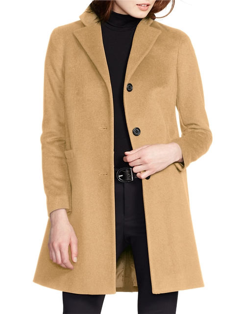 Two-Button Short Coat by Ralph Lauren in Scream Queens - Season 1 Episode 1