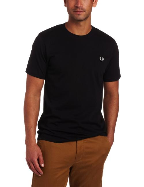 Men's Crew Neck Plain T-Shirt by Fred Perry in Gone Girl