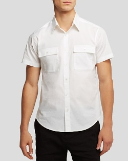 Ferriday Short Sleeve Button Down Shirt by Theory in The Longest Ride