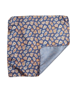 Paisley Silk Reversible Pocket Square by Daniel Dolce in Empire