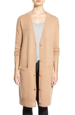 Long Cashmere Cardigan by Halogen in Scream Queens