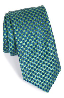 Geometric Woven Silk Tie by Ted Baker London in The Good Wife