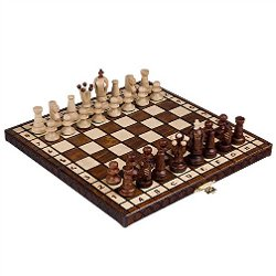 European Wooden Handmade International Chess Set by Wegiel in The Man from U.N.C.L.E.