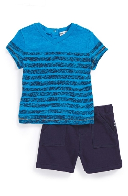 Stripe T-Shirt & Shorts (Baby Boys) by Splendid in Terminator: Genisys
