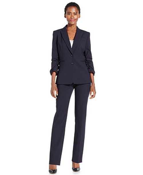 Two-Button Pants Suit by Tahari Arthur S. Levine in Secret in Their Eyes