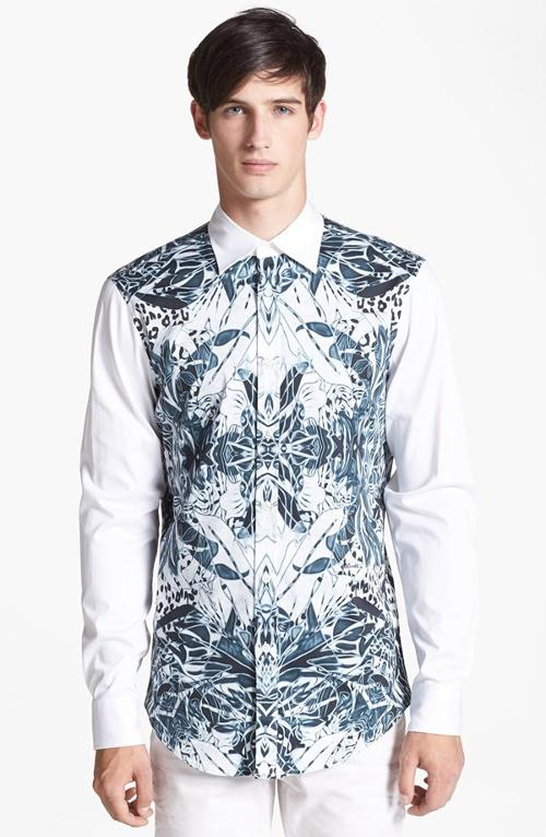 Print Cotton Shirt by Just Cavalli in No Strings Attached