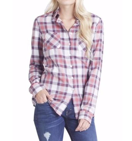 Button Plaid Shirt by BCBGeneration in Fuller House - Season 1 Episode 12