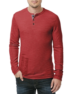 Long Sleeve Henley Tee by Buffalo David Bitton in Jessica Jones