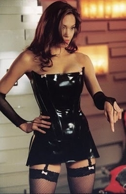 Latex Corset Dress by Syren in Mr. & Mrs. Smith