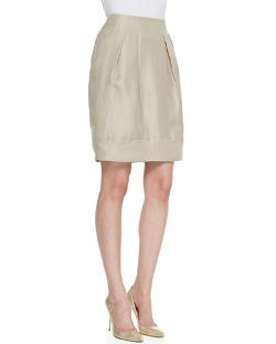 Jackie Pleated Silk Skirt by Lafayette 148 New York in Little Fockers