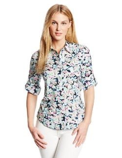 Floral Fitted Shirt by Jones New York in The Visit