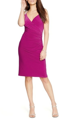 Embellished Straps Jersey Sheath Dress by Lauren Ralph Lauren in Fuller House