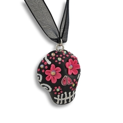 Day of the Dead Sugar Skull Ribbon Choker by Zeckos in Freaky Friday