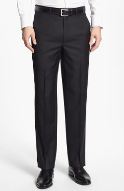 Flat Front Wool Trousers by Santorelli in The Devil Wears Prada